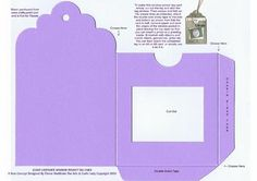 GIANT LAVENDER WINDOW POCKET TAG CARD on Craftsuprint - Add To Basket!