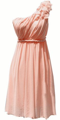 Asymmetric Grecian Dress....this would make a pretty bridesmaid dress