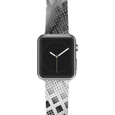 "Michael Sussna ""Array Decay"" Checkered Gray Apple Watch Strap"