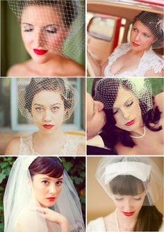 Real Brides Wearing Chic Red Lipstick. My mom is worried it may look too vampy with the dress but I'm over the smokey eye wedding thing.