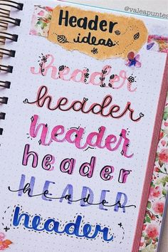 Check out the 20 best pink themed bullet journal headers and title spreads for inspiration! Bullet Journal School, Bullet Journal Titles, Bullet Journal Banner, Bullet Journal Lettering Ideas, Journal Fonts, Bullet Journal Aesthetic, Bullet Journal Writing Styles, Hand Lettering Tutorial, Hand Lettering Fonts