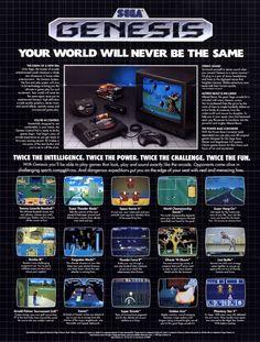 Magazine ad for Sega Genesis 1989.