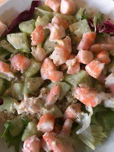 Ig bas crevette salade quinoa