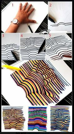 Learn how to draw a Hand Illusion. Super easy and a fun craft for kids! Learn how to draw a Hand Illusion. Super easy and a fun craft for kids! Bored At Work, Bored At School, Art School, High School, Middle School, Primary School Art, Design Elements, Creations, Teacher's Pet