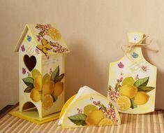 В качестве картинки для декупажа чайного домика хорошо подойдет изображение с различными фруктами