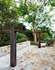 """Gardens - Landscapes - Pools on Instagram: """"#outdoorestablishments - Sometimes the old hills hoist just doesn't cut it. Our project in Mosman called for a clothesline that was both aesthetically pleasing and practical. Using marine wire and 200x200 recycled hardwood posts, we constructed this beautiful crucifix clothesline with over 36m of hanging space! """""""