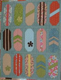 Surf Shop Quilting Pattern by Crazy Old Ladies at KayeWood.com. Now you don't have to live at the beach to enjoy surfing. This quilt is fun for kids of all ages 2 mo. to 80. Pick out your favorite fabrics and get stitchin' on this easy pattern. http://www.kayewood.com/item/Surf_Shop_Quilt_Pattern/3069 $10.00