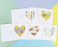 Mini blank cards Nautical blank cards Coastal themed   Etsy Baby Girl Cards, New Baby Cards, Handmade Thank You Cards, Greeting Cards Handmade, Happy Birthday Cards, Birthday Greetings, Wedding Anniversary Cards, Congratulations Card, Pretty Cards