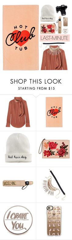 """#PolyPresents: Last-Minute Gifts"" by natyleygam ❤ liked on Polyvore featuring ban.do, Mudd, MANGO, Moschino, 3 AM Imports, Baron Von Fancy, Casetify, contestentry and polyPresents"