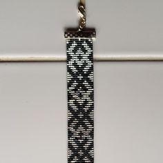Bracelet noir et argent