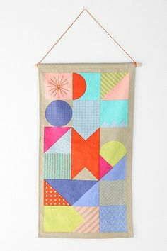 Cool for when youre not allowed to paint walls! Beci Orpin Geometric Wall Hanging - Urban Outfitters