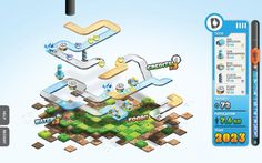 Drench Game by Tim Smith, via Behance