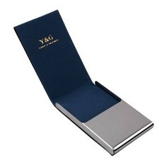 Blue business card case for men Black Stainl?ess « Holiday Adds