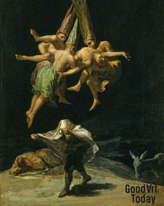 Francisco Goya Witches in the Air, , Museo del Prado, Madrid. Read more about the symbolism and interpretation of Witches in the Air by Francisco Goya. Francisco Goya, Spanish Painters, Spanish Artists, Art Espagnole, Hans Baldung Grien, Art Moderne, Old Master, Samhain, Rembrandt