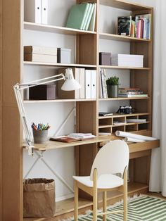 Lundia Classic could work as our combined bookshelf / office