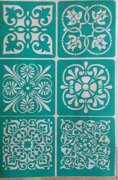 Трафарет на клеевой основе многоразовый Stencil Patterns, Stencil Designs, Tile Patterns, Stencils, Stencil Art, Thermocol Craft, Decoupage, Art Chinois, Stenciled Floor