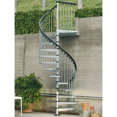 Exterior spiral staircase kits from Spiral Stairs direct are easy to build and are a great way to access your garden, or an outside doorway, or use one indoors for that modern industrial look. New Staircase, Staircase Design, Stair Design, Staircase Ideas, Spiral Staircase Outdoor, Outdoor Stairs, Spiral Staircases, Exterior Handrail, Irons