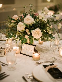 White Roses & Wedding Reception Flowers