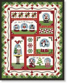 Snow_Globe_2016 by the Quilt Company kit on stitchinheaven  I like this idea for the holidays