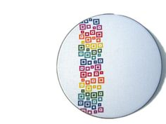Confettis arc-en-ciel moderne point de croix