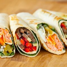 Ten delicious and healthy wraps you can take to work fresh rolls, mexican, breakfast Healthy Wraps, Healthy Snacks For Kids, Healthy Eating, Healthy Popcorn, Lunch Recipes, Diet Recipes, Healthy Recipes, Lunch Wraps, Work Meals