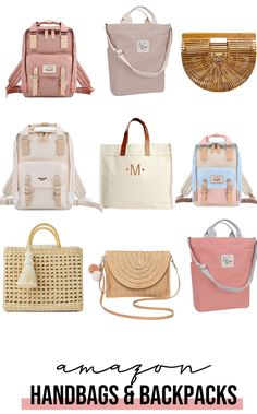 I'm excited to share with you some amazing handbags and backpacks for women from Amazon! They are affordable and super cute! Happy Shopping! #handbagsforwomen #pinkhandbags #affordablebackpacks #backpacksforwomen #affordablehandbags