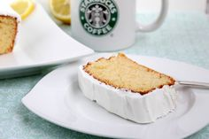 Zitronenkuchen ♡ Lemon Pound Cake a la Starbucks Lemon Loaf Cake, Pound Cake, Pampered Chef, Starbucks Lemon Loaf, Vanilla Cake, Bakery, Cheesecake, Food And Drink, Sweet