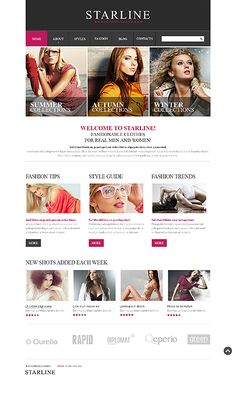 'Starline Fashion' #Website #Webdesign Template http://zign.nl/42985