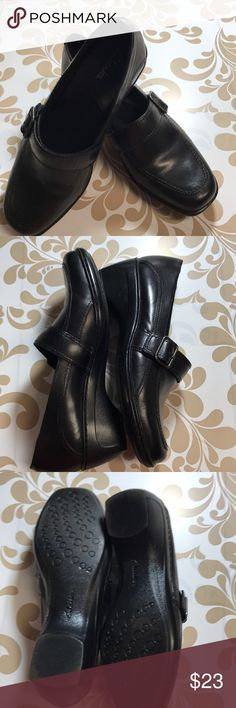 Clarks Okena Posh Cut Out Black Shoes Womens Shoes & Boots Womens Footwear COLOUR-black leather