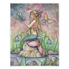 Beautiful Mermaid Poster by Molly Harrison