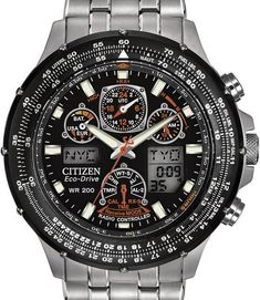 Fantastic XXL MAX Dutch Design chronograph with black carbonized bezel and black leather strap now with 50% discount. www.megawatchoutlet.com