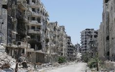 homs bombed out syria