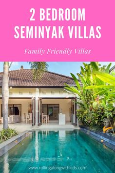 Family friendly 2 bedrooms in Seminyak Bali. We have found the best villas that suit families with younger kids with safe stairs, enclosed living areas and pools that can be fenced. Bali With Kids, Travel With Kids, Bali Family Holidays, Bali Travel, Friends Family, Villas, Pools, Families, Bedrooms