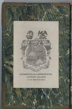 Ex Libris, Bookbinding, Heron, Notes, Paris, Collection, Report Cards, Montmartre Paris, Herons