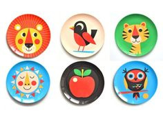 For happy mealtimes, serve up meals on colour-ific plates illustrated by Swedish designer Ingela Arrhenius. So cheery that they'll forget to...