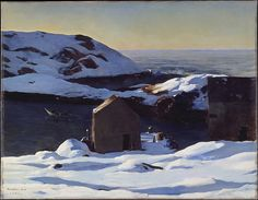 Winter, Monhegan Island 1907(via The Met)  Rockwell Kent
