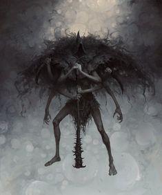 Fantasy Kunst, Dark Fantasy Art, Dark Art, Arte Horror, Gothic Horror, Creepy Horror, Fantasy Monster, Monster Art, Yoga Symbole