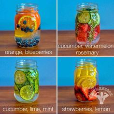 infused water with fruit and what it does is you put in your own amount of fruit then it changes the color of the water and makes it taste amazing