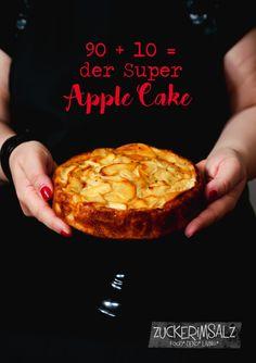 Super healthy Apple Cake - der 90 % Frucht und 10 % kalorienarme Super Apfelkuchen