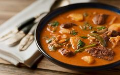 thai red curry duck recipe - I am so going to make this with chicken and Japanese sweet potatoes.