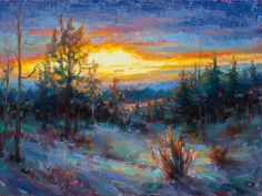 """ColdFire,"" an oil by Katherine Taylor, shows in ""Small Wonders,"" opening today at Hood Avenue Art."