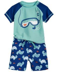 c88477b283 First Impressions 2-Pc. Rash Guard & Swim Trunks Set, Baby Boys, Created  for Macy's & Reviews - Swimwear - Kids - Macy's