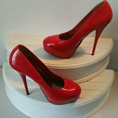 Red stiletto pumps Red stiletto pumps Charlotte Russe Shoes Platforms