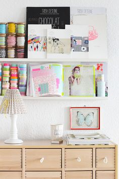 craft room storage as display by decor8, via Flickr