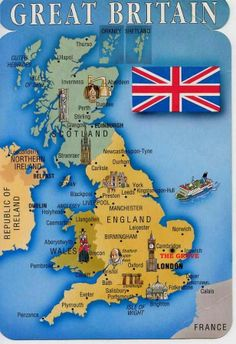 United Kingdom ~ Includes Great Britain (England, Scotland, Wales) and Northern Ireland England Ireland, England And Scotland, England Uk, London England, Bristol England, Bristol Uk, Map Of Britain, Kingdom Of Great Britain, Glasgow