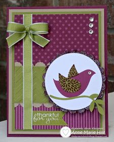handmade card ... Dynamic Duos color challenge #10: Rich Rassleberry and Old Olive ... beautiful card .. like the design ... Stampin' Up!