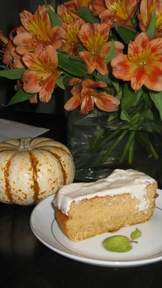Lady's Amazing Dukan Year: Dukan Pumpkin Moist Cake Recipe with Cream Cheese Frosting