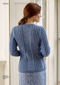 Ravelry: Selma pattern by Pat Menchini Knit Cardigan Pattern, Sweater Knitting Patterns, Knitting Designs, Knit Patterns, Free Knitting, Crochet Blouse, Knit Crochet, Blouses For Women, Sweaters For Women