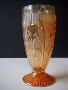 I remember these. They were Carnival glass  - Aunt Viola used them for special occasions.