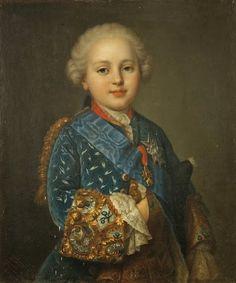 """Portrait of Prince Louis Auguste of France, Duc de Berry (1754-1793), future King Louis XVI of France and Navarre"" by Jean-Martial Frédou (1760)"
